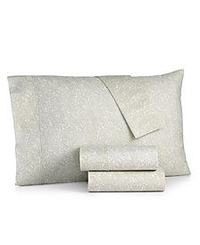 CLOSEOUT! Bari 4-Pc. Printed Queen Sheet Set, 350 Thread Count Cotton Blend