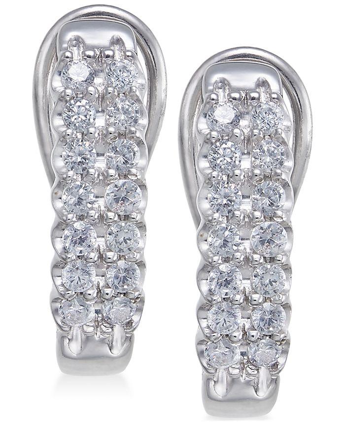 Macy's - Diamond Hoop Earrings (1/2 ct. t.w.)