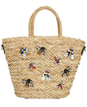 Steve Madden Cheryl Embellished Basket Crossbody Tote 5886465