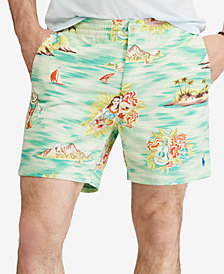 "Polo Ralph Lauren Men's Classic Fit Island Print Prepster 6"" Shorts"