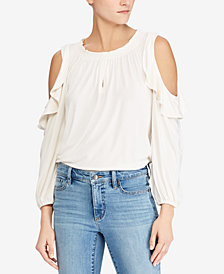 Lauren Ralph Lauren Cold-Shoulder Top