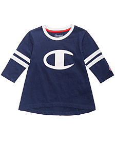 Champion Heritage Logo-Print Rugby T-Shirt, Little Girls