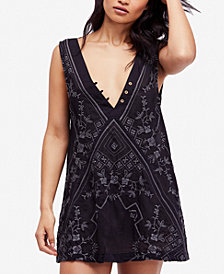 Free People Cotton Embroidered Shift Dress