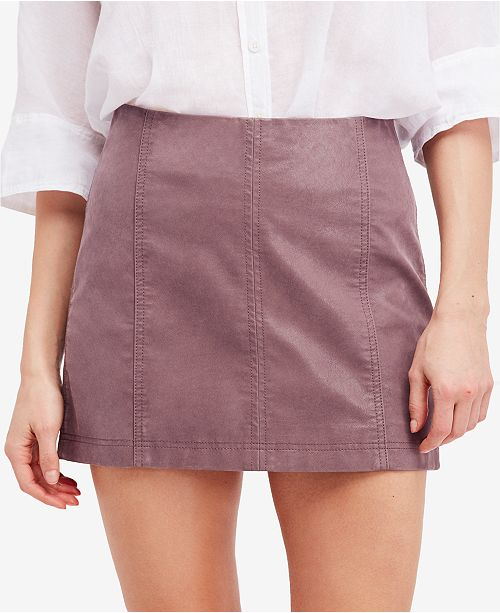 8872fa63d0 Free People Modern Femme Faux-Leather Mini Skirt & Reviews ...