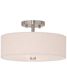 Meridian 2-Light Semi Flush Mount
