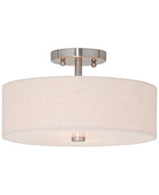 Livex Meridian 2-Light Semi Flush Mount
