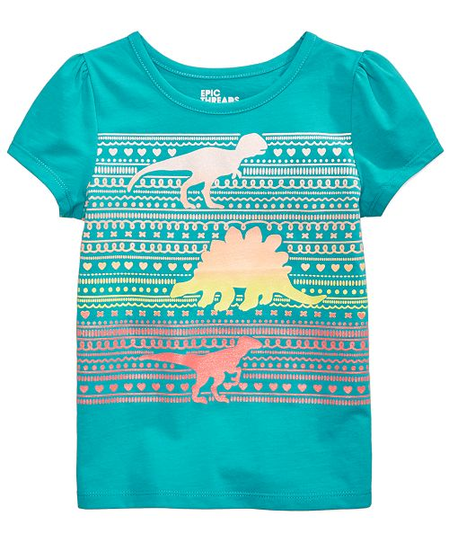 a6835570d7ba Epic Threads Dinosaur Printed T-Shirt, Toddler Girls, Created for Macy's ...