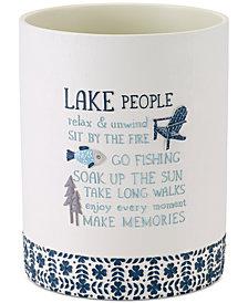 Avanti Lake Life Hand-Painted Wastebasket