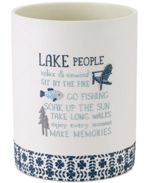 Avanti Lake Life HandPainted Wastebasket Bedding