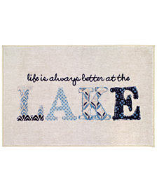 "Avanti Lake Life 20"" x 30"" Graphic-Print Bath Rug"