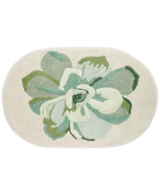 "Canyon Cotton 20"" x 30"" Tufted Floral Bath Rug"