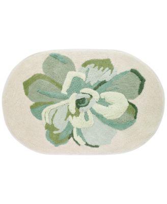 "Canyon Cotton 20"" x 30"" Tufted Floral Bath Rug"