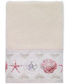 Avanti Coronado Cotton Graphic-Print Beaded Hand Towel