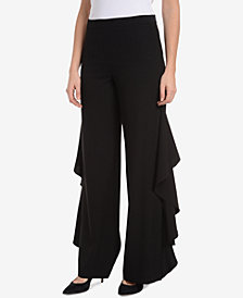 NY Collection Ruffled Wide-Leg Pants