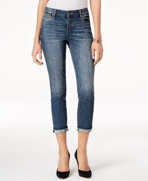 KUT FROM THE KLOTH Uma Roll-Cuff Boyfriend Jeans in Improvised
