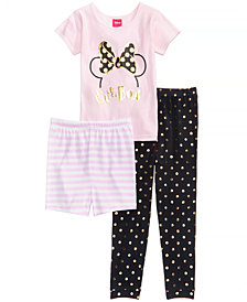 Disney's® Minnie Mouse 3-Pc. Cotton Pajama Set, Toddler Girls, Created for Macy's