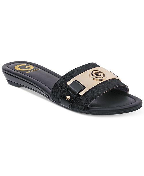 3ac37cecc G by GUESS Jeena Slide Flat Sandals   Reviews - Sandals   Flip Flops ...