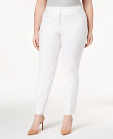 Alfani Plus & Petite Plus Size Slim Tummy-Control Pants,  Created for Macy's