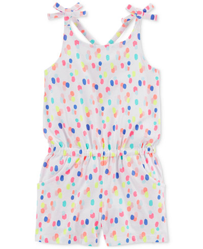 Carter's Dot-Print Romper, Little & Big Girls