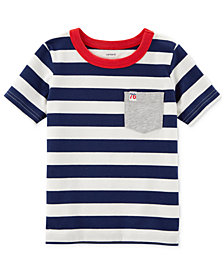 Carter's Striped Pocket Cotton T-Shirt, Little Boys