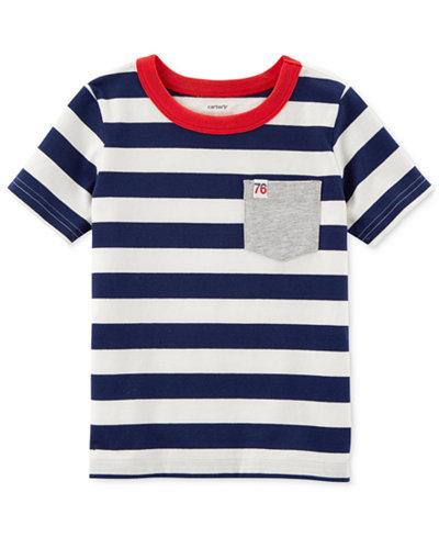 Carter's Striped Pocket Cotton T-Shirt, Toddler Boys