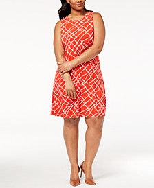 Anne Klein Plus Size Printed Dress
