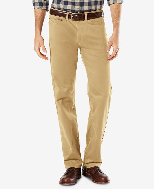 4206597601 Dockers Men s Dobby Straight Fit Soft Stretch Pants   Reviews - Pants ...