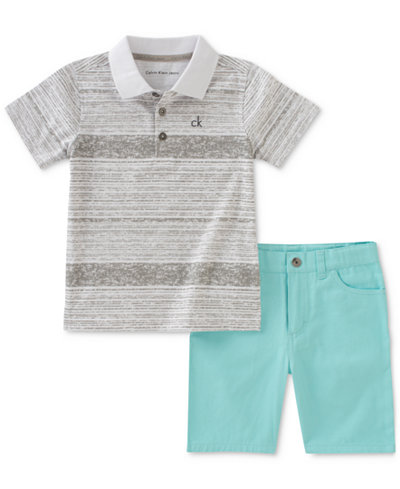 Calvin Klein 2-Pc. Polo & Shorts Set, Little Boys
