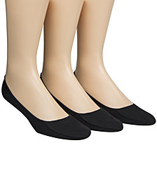 Calvin Klein Men's Cotton No-Show Liner Socks 3-Pack