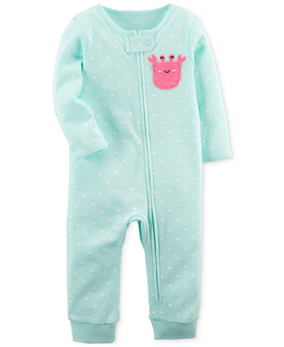Carter's 1-Pc. Cotton Coverall, Baby Girls