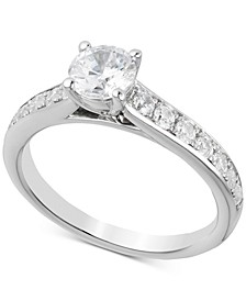 Certified Diamond Engagement Ring (1-1/4 ct. t.w.) in 14k White Gold