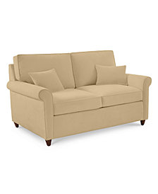 "Lidia 62"" Fabric Loveseat - Custom Colors, Created for Macy's"