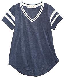Pink Republic V-Neck Striped T-Shirt, Big Girls