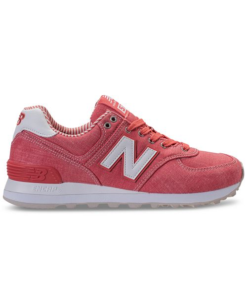 6ea04c48408 New Balance Women's 574 Beach Chambray Casual Sneakers from Finish ...