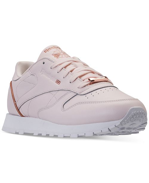 b0e77e895714 Reebok Women s Classic Leather HW Casual Sneakers from Finish Line ...