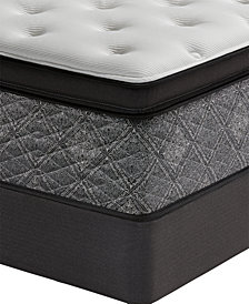 "MacyBed by Serta  Elite 14.5"" Plush Euro Pillow Top Mattress Set - Queen Split, Created for Macy's"