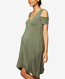 Motherhood Maternity Cold-Shoulder Dress