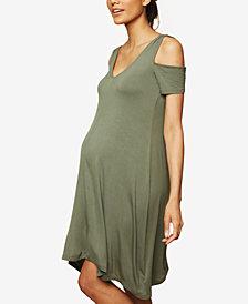 Motherhood Maternity Cold-Shoulder Dress