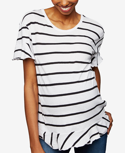 A Pea in the Pod Maternity Ruffled T-Shirt
