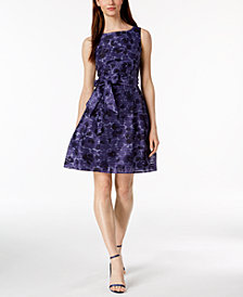 Anne Klein Printed Fit & Flare Dress