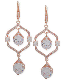 Anne Klein Crystal Orbital Double Drop Earrings