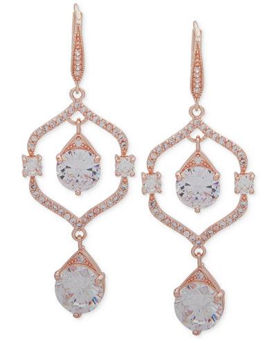 Anne Klein Crystal Orbital Double Drop Earrings