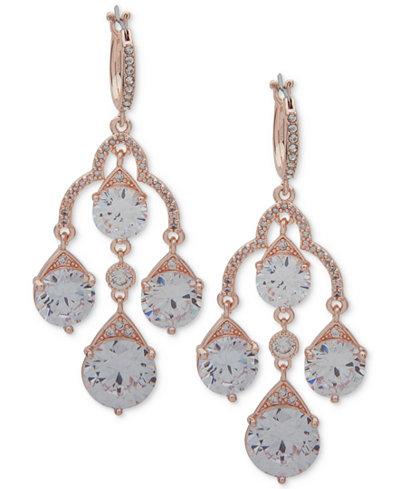 Anne Klein Crystal Chandelier Earrings
