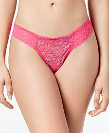 Hanky Panky Leila Low-Rise Diamond Sher Lace Thong 2Q1122
