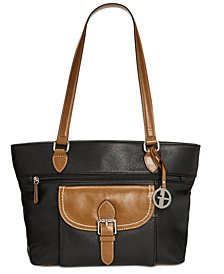Giani Bernini Pebble Leather Tote, Created for Macy's