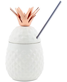 CLOSEOUT! Thirstystone White Copper 3-Pc. Pineapple Tumbler