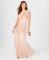 e79eda1a6405 Adrianna Papell Cap-Sleeve Embellished Gown
