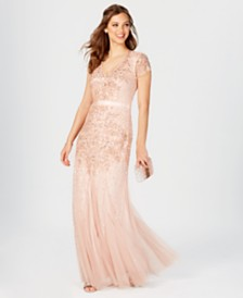2cf9a84391cc Adrianna Papell Cap-Sleeve Embellished Gown