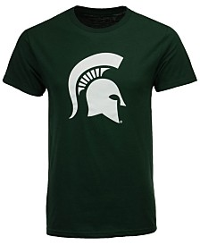 New Agenda Men's Michigan State Spartans Big Logo T-Shirt