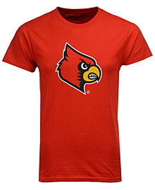 New Agenda Men's Louisville Cardinals Big Logo T-Shirt